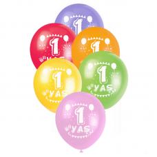 1 Yaş Karışık Baskılı Balon