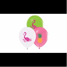 Flamingo Renkli Baskılı Balon