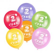 2 Yaş Karışık Baskılı Balon