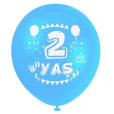 2 Yaş Mavi Baskılı Balon