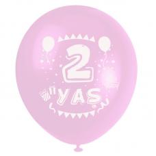 2 Yaş Pembe Baskılı Balon