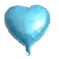 24 İnç Kalp Açık Mavi Folyo Balon
