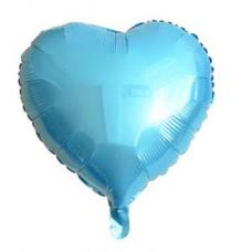 18 İnç Kalp Açık Mavi Folyo Balon