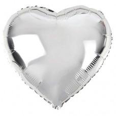 24 İnç Kalp Gümüş Folyo Balon