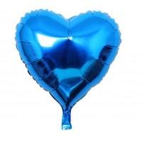 24 İnç Kalp Mavi Folyo Balon