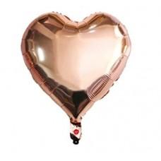 18 İnç Kalp Rose Gold Folyo Balon