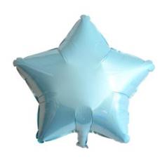 24 İnc Yıldız Açık Mavi Renk Folyo Balon