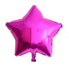 24 İnc Yıldız Fuşya Renk Folyo Balon